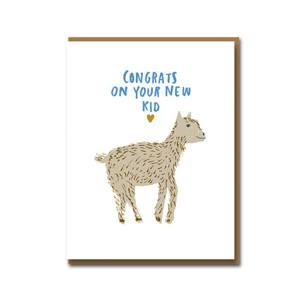 Egg Press Congrats New Kid Card