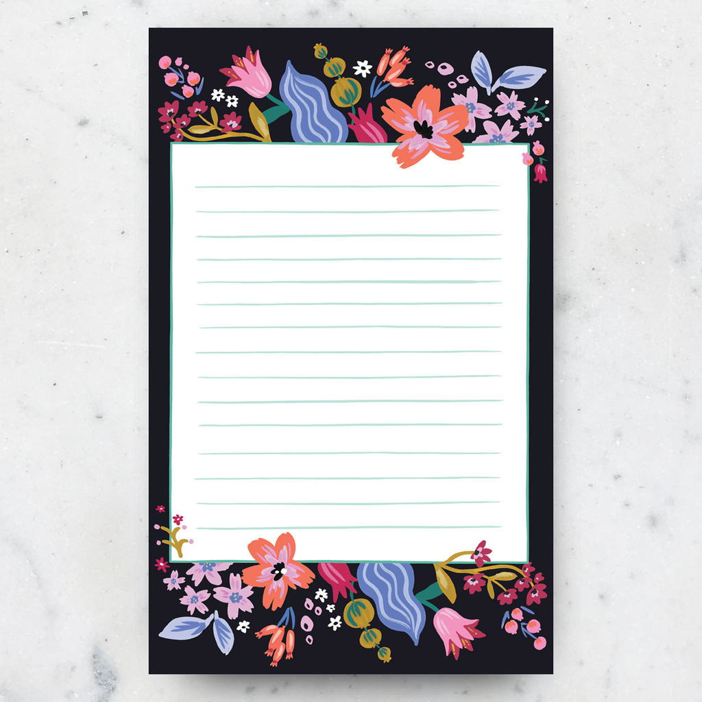 Idlewild Co. Coral Floral Notepad