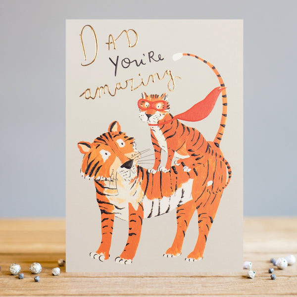 Louise Tiler Dad Amazing Tigers Card