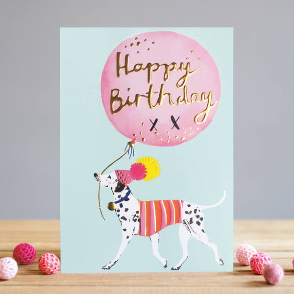 Louise Tiler Happy Birthday Dalmatian Card