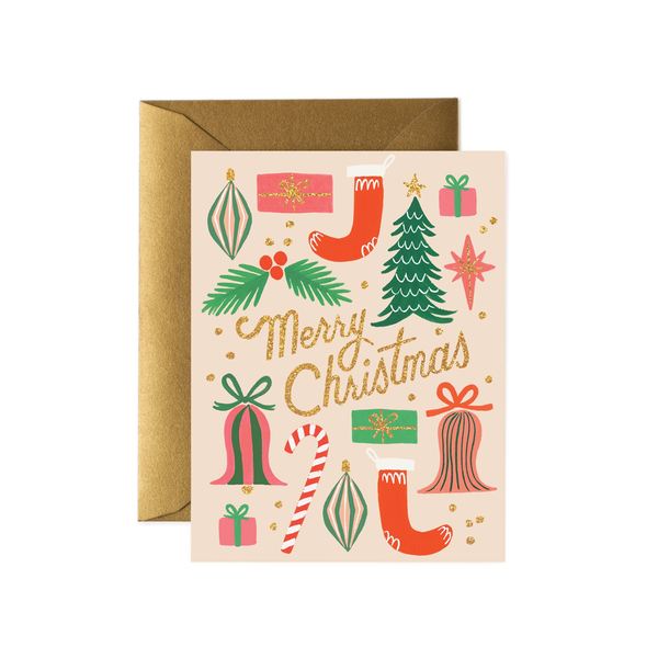 Rifle Paper Co. Deck The Halls Christmas Card