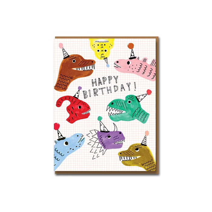 Carolyn Suzuki Sarah's Dinos Birthday Card