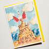 Andrea Kett A Dirty Beach Glittery Birthday Card