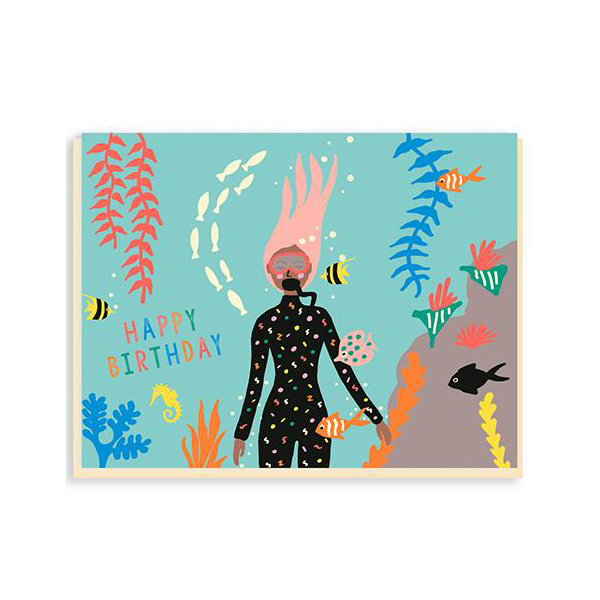 Emma Cooter Diver Birthday Card