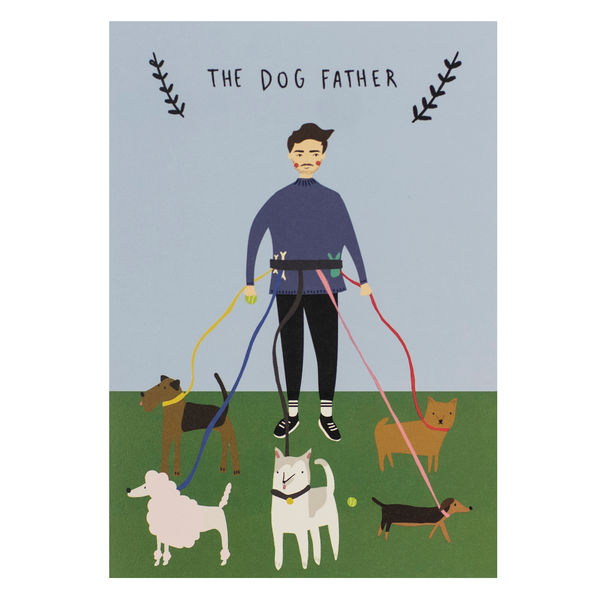 Meraki Dog Father Birthday Card