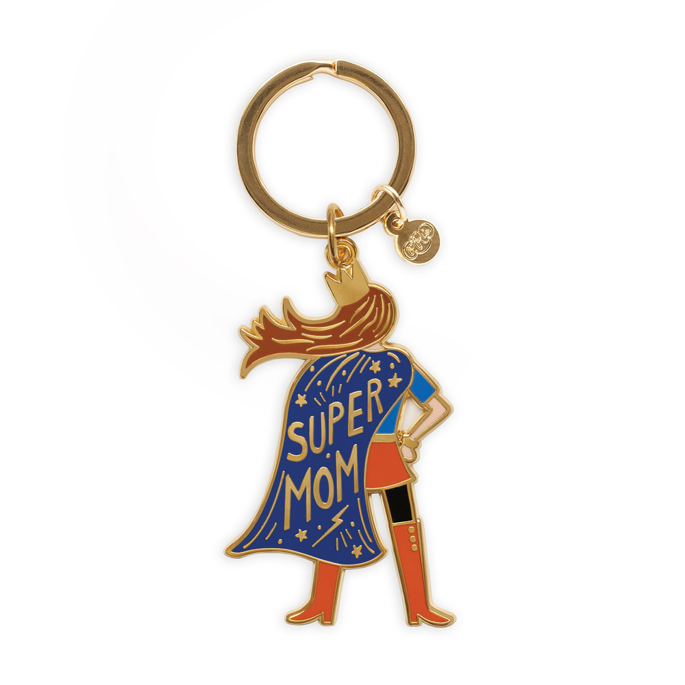 Rifle Paper Co. Super Mom Enamel Keychain