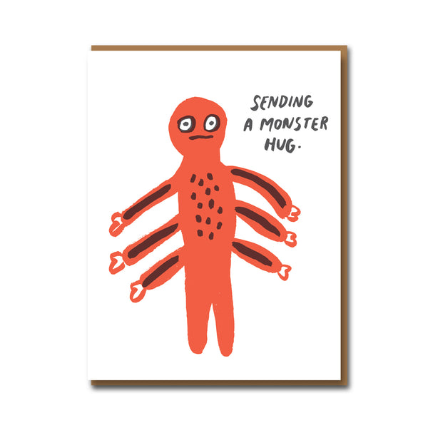 Egg Press Monster Hugs Card
