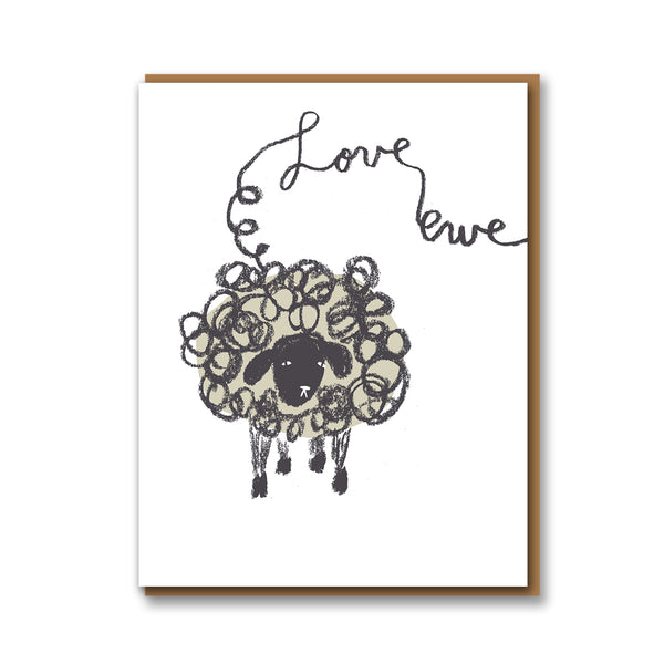 Egg Press Love Ewe Card