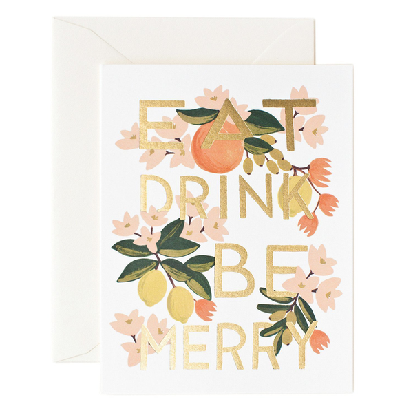 Rifle Paper Co. Eat Drink & Be Merry Christmas Card