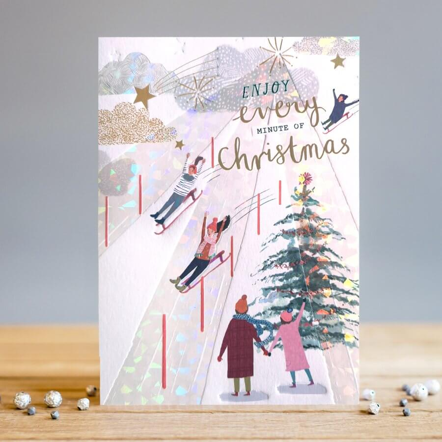 Louise Tiler Enjoy Every Minute Christmas Card