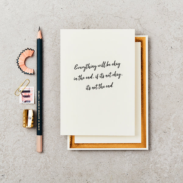 Katie Leamon Everything Will Be Okay Sympathy Card