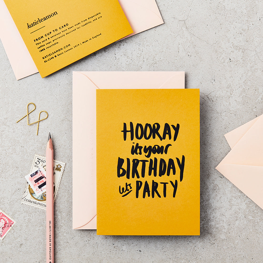 Katie Leamon Extract Lets Party Birthday Card