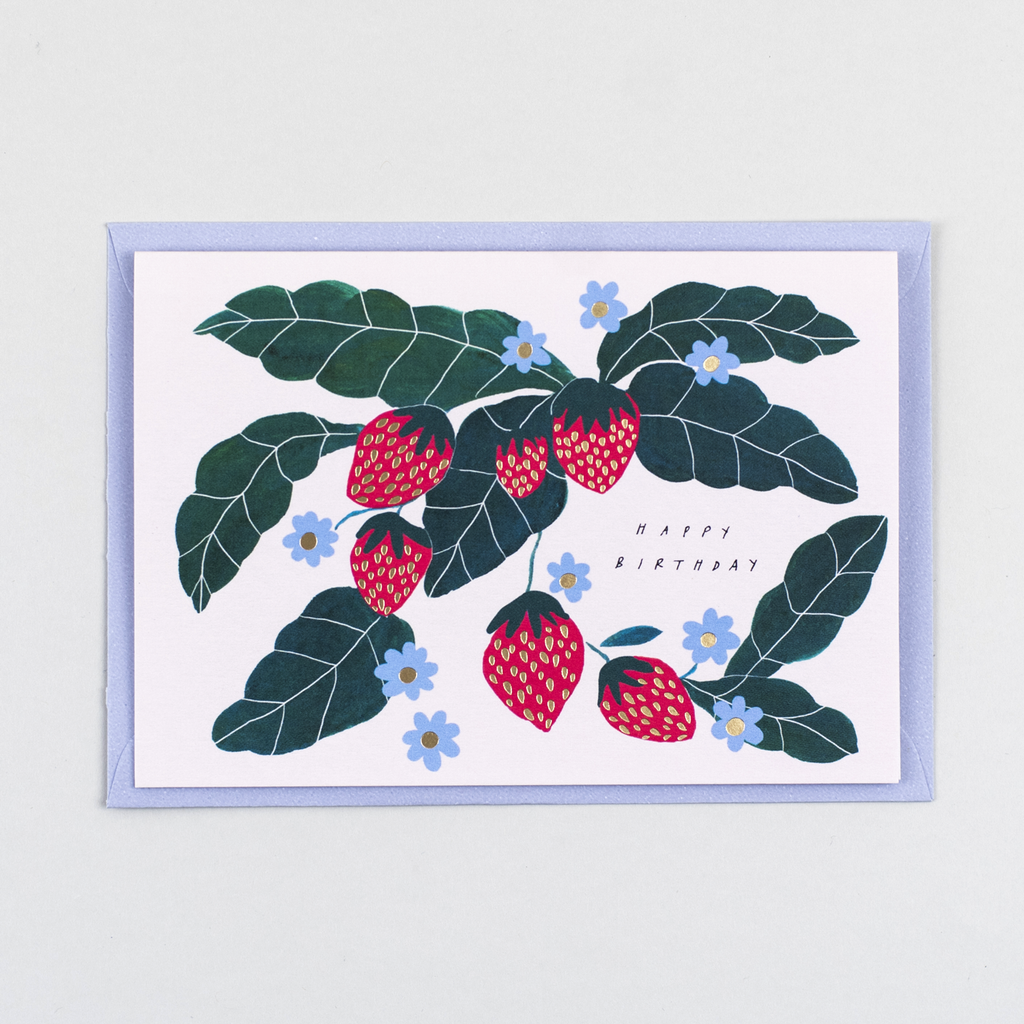 Katie Housley Strawberry Birthday Card