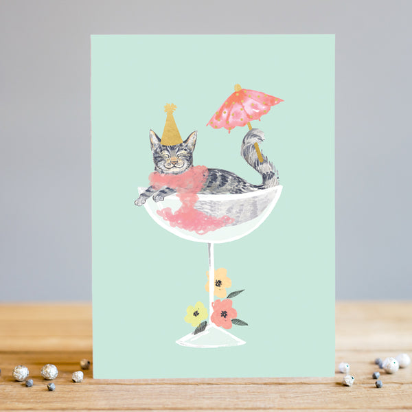 Louise Tiler Cat Party Birthday Card