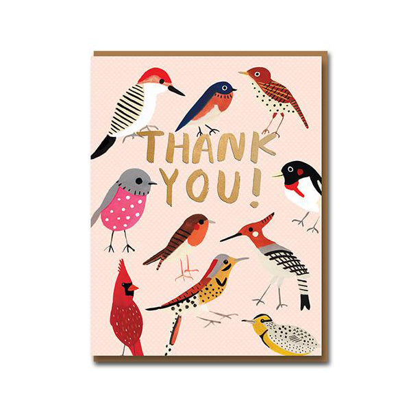 Carolyn Suzuki Feathered Friends Thank You Card