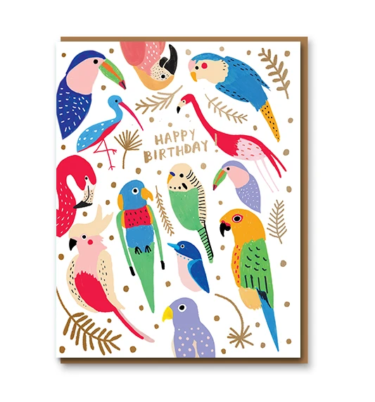 Carolyn Suzuki Tropical Feathers Card