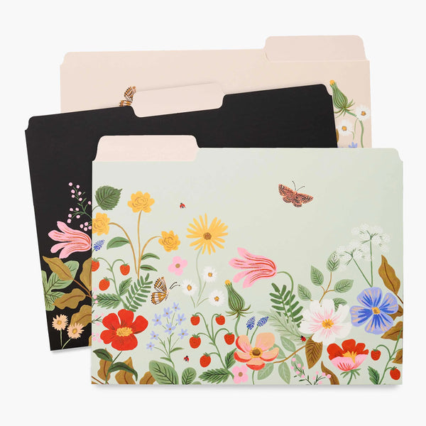 Rifle Paper Co. Assorted File Folders - Strawberry Fields