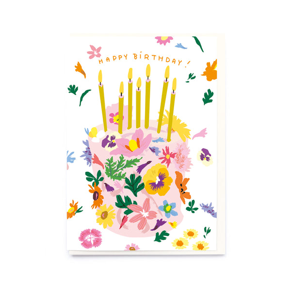 Noi Publishing Floral Birthday Cake Card