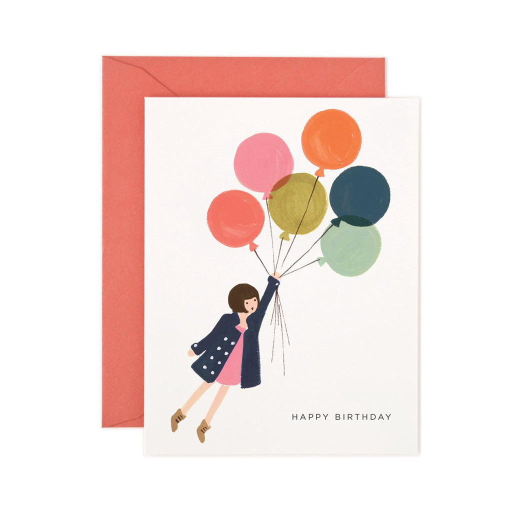 Rifle Paper Co. Fly Away Balloons Birthday Card