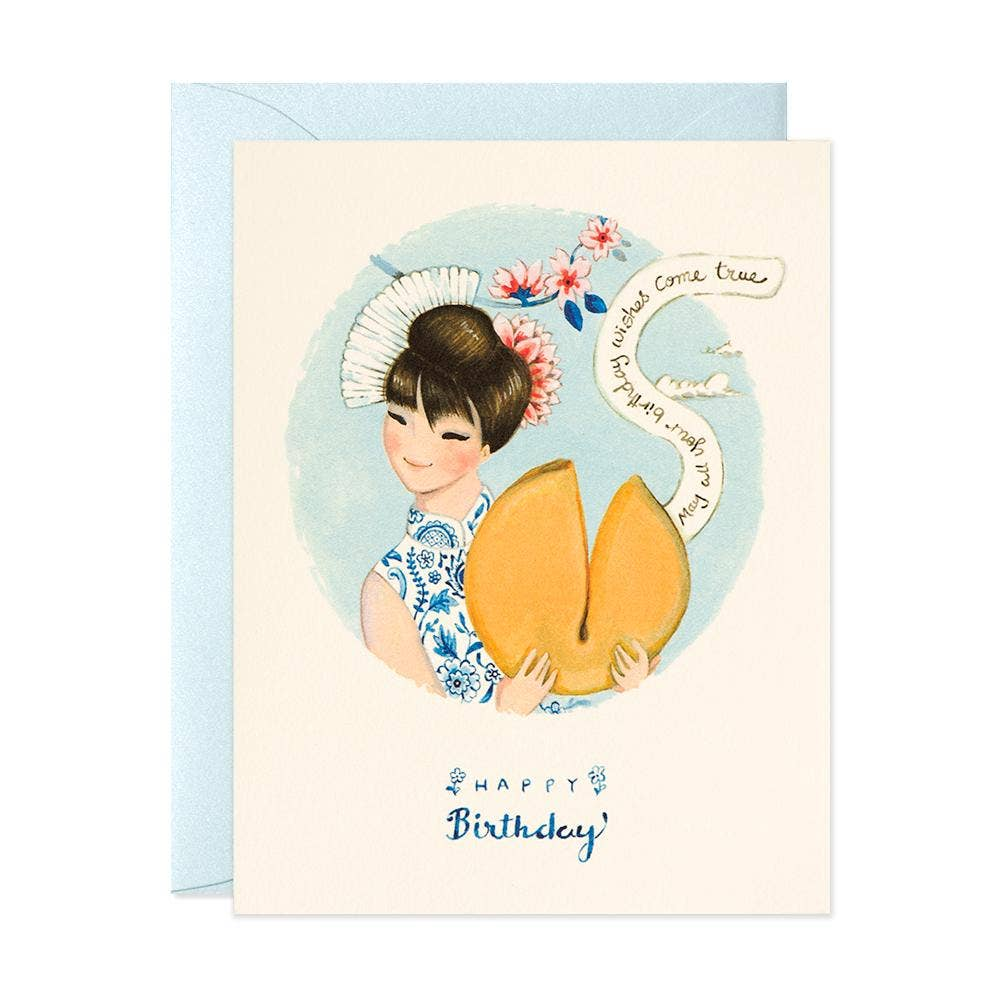 JooJoo Paper Fortune Cookie Birthday Card