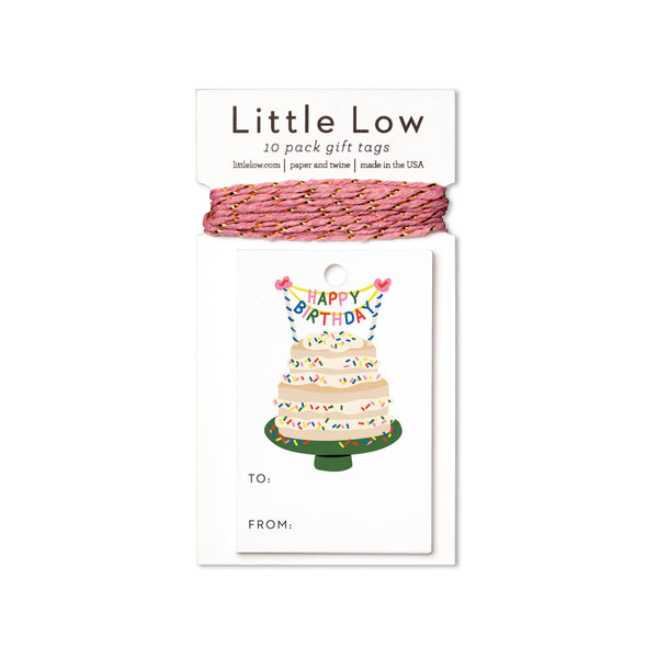 Little Low Funfetti Cake Gift Tags