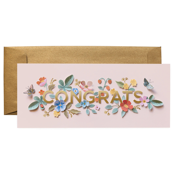 Rifle Paper Co. Cut Paper Congrats Card No. 10