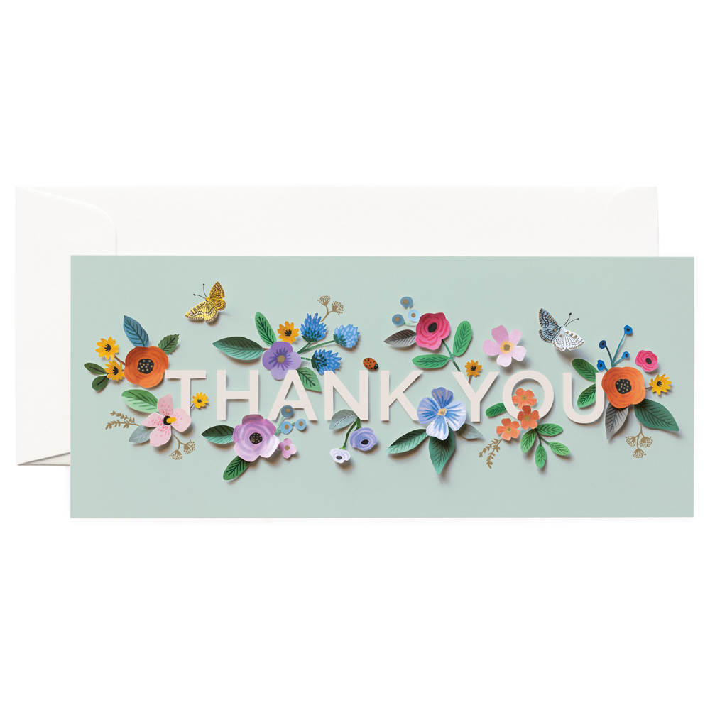 Rifle Paper Co. Cut Paper Thank You Card No. 10