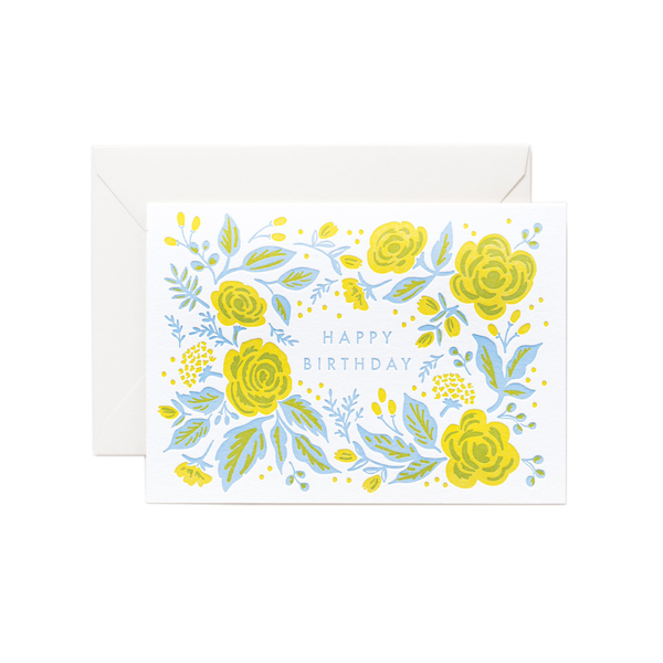 Rifle Paper Co. Jardin Birthday Letterpress Card
