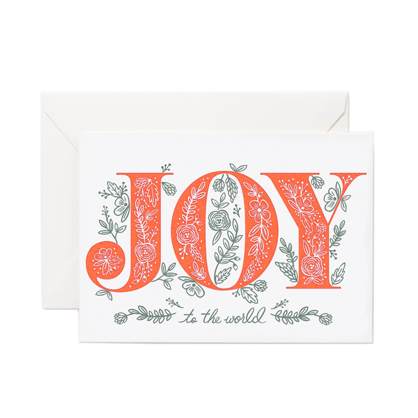 Rifle Paper Co. Joy To The World LETTERPRESS Christmas Card