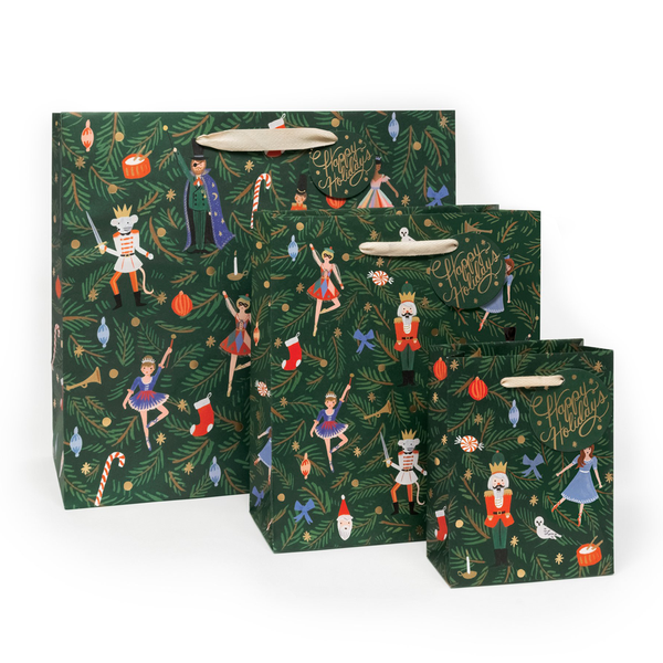 Rifle Paper Co. Nutcracker Christmas Gift Bags