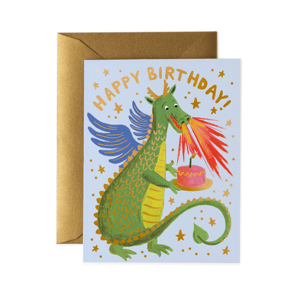 Rifle Paper Co. Birthday Dragon Card