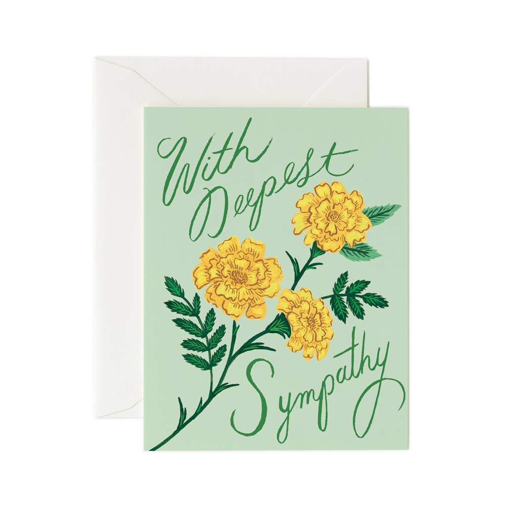 Rifle Paper Co. Marigold Sympathy Card
