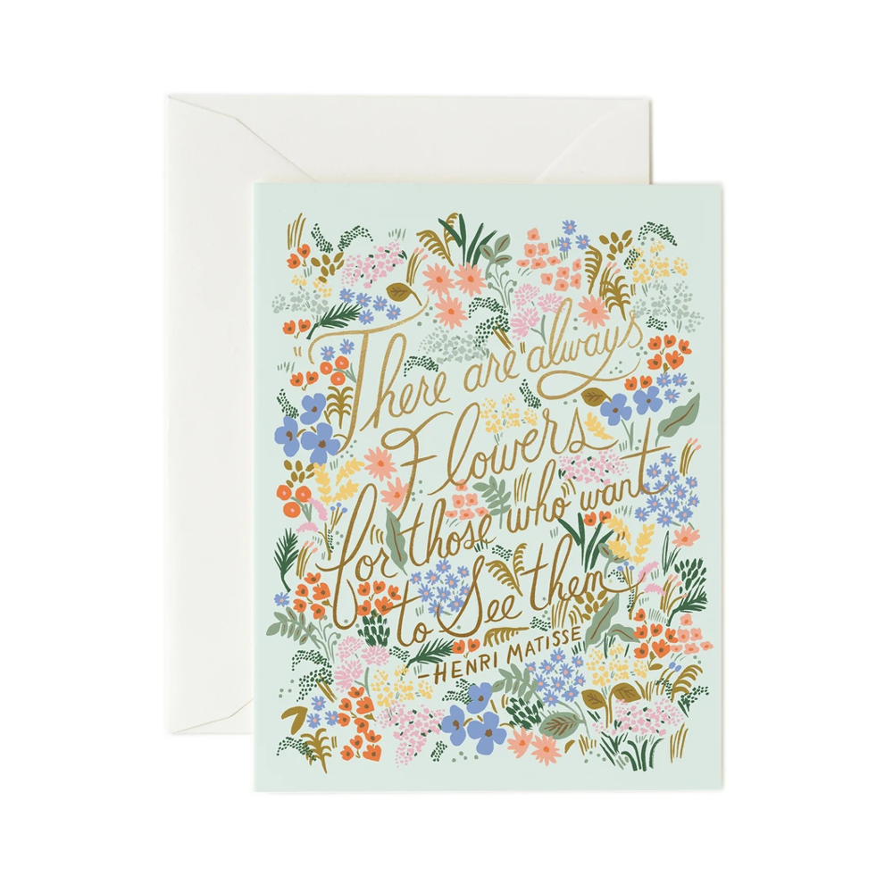 Rifle Paper Co. Matisse Quote Card