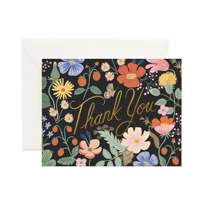 Rifle Paper Co. Strawberry Fields Thank You CARD SET