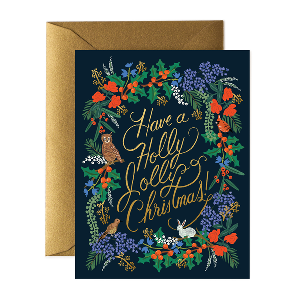 Rifle Paper Co. Holly Jolly Christmas Card