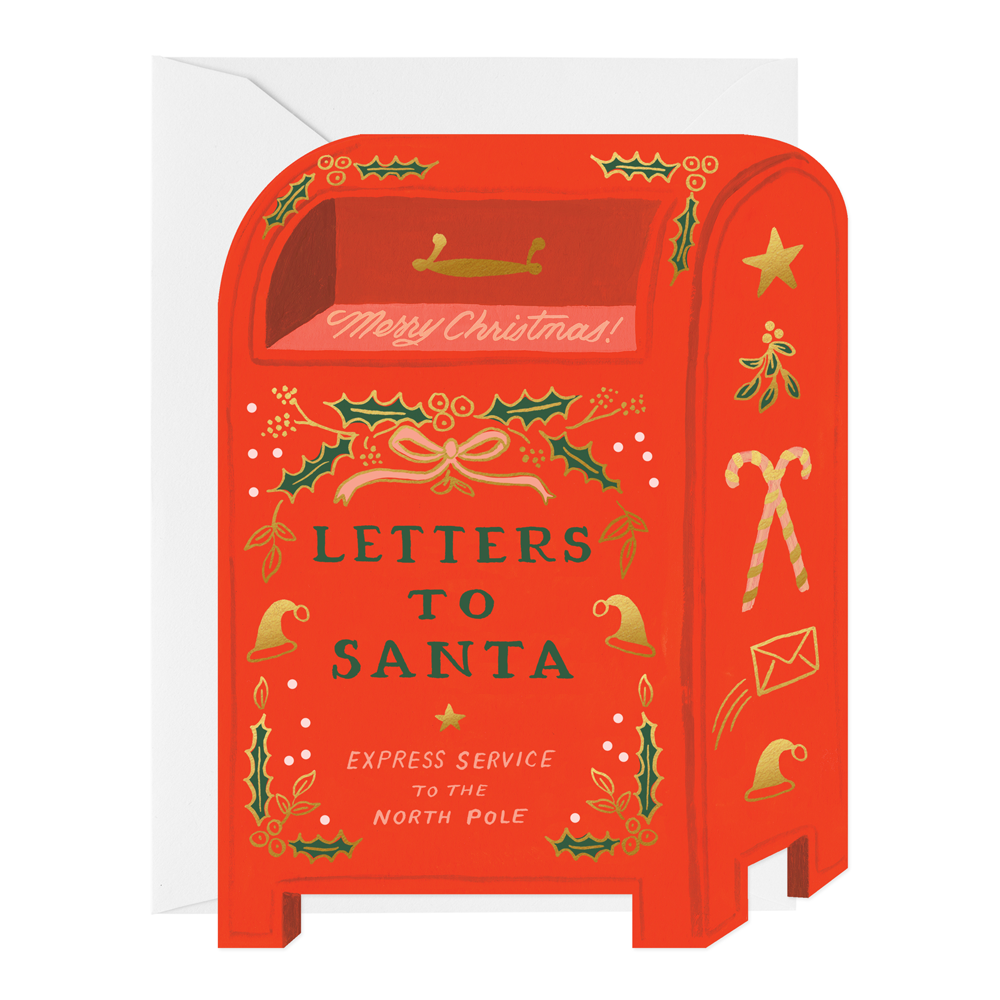 Rifle Paper Co. Letters to Santa Flat Note Christmas Card SET