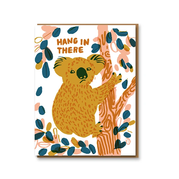 Egg Press Hang In There Card