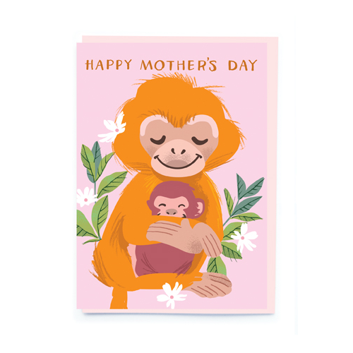 noi Cards Monkey Happy Mother's Day Card