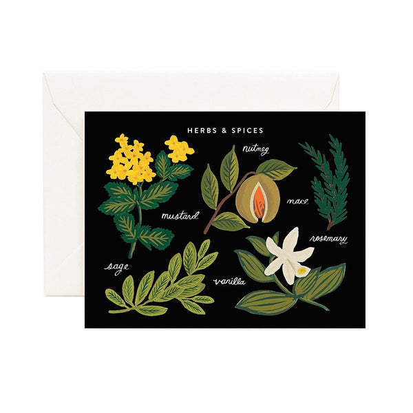Rifle Paper Co. Herbs & Spices Chart Card