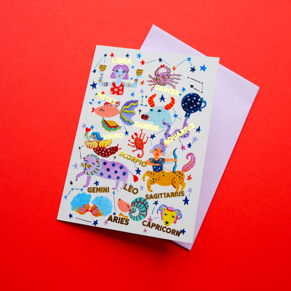 Eleanor Bowmer Horoscopes Birthday Card