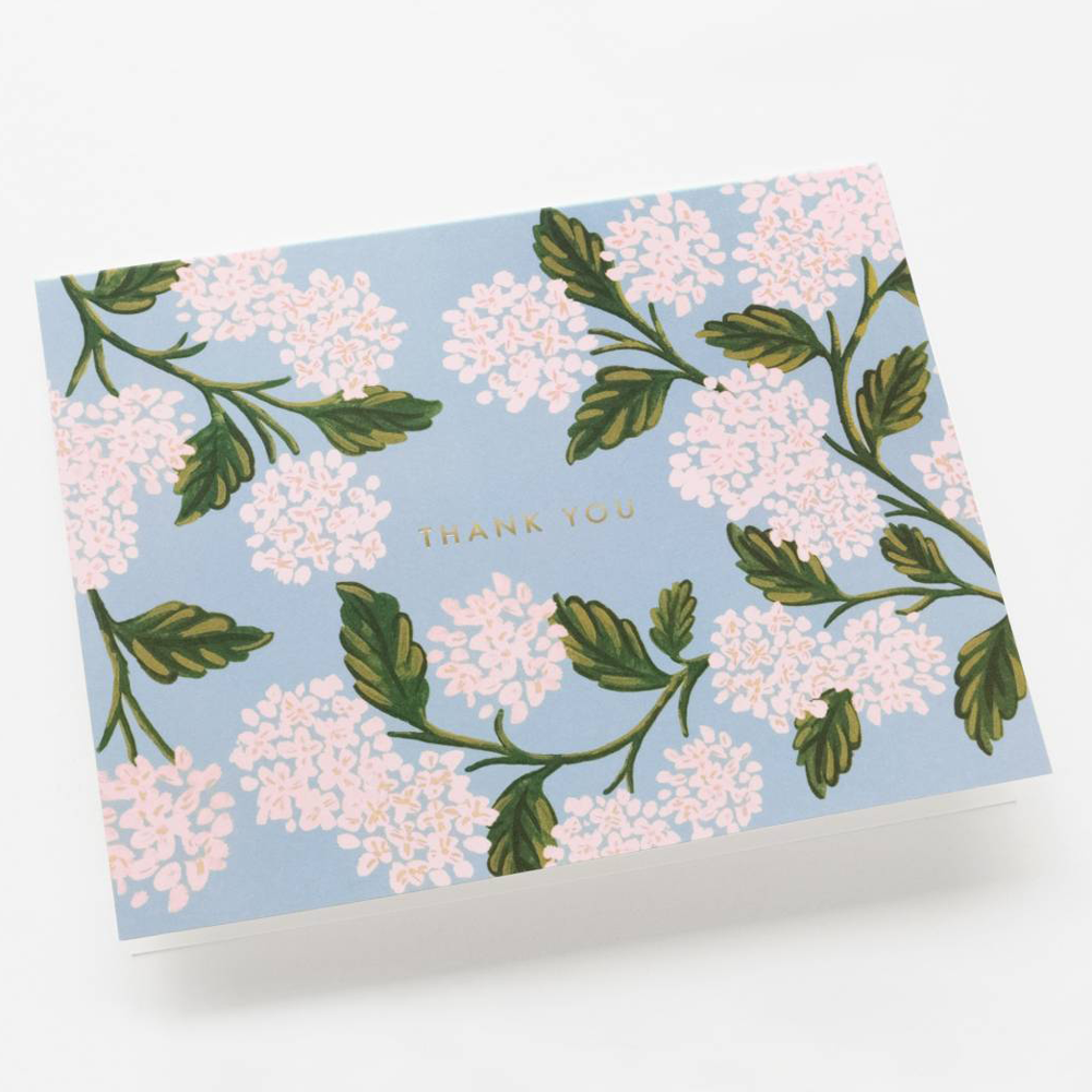 Rifle Paper Co. Hydrangea Thank You Card SET