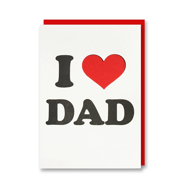 1973 I Heart Dad Letterpress Card