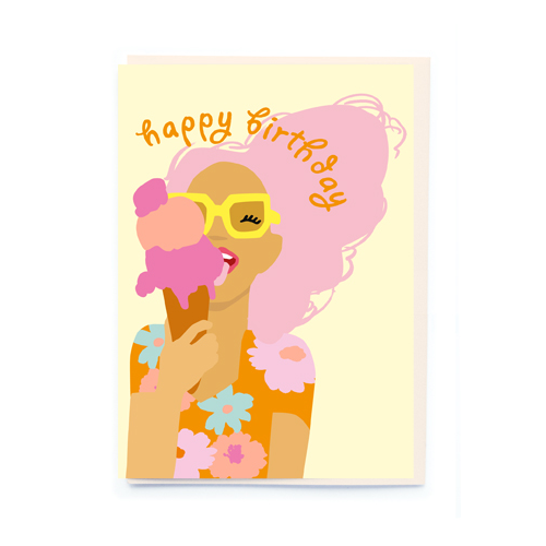 Noi Publishing Ice Cream Girl Birthday Card