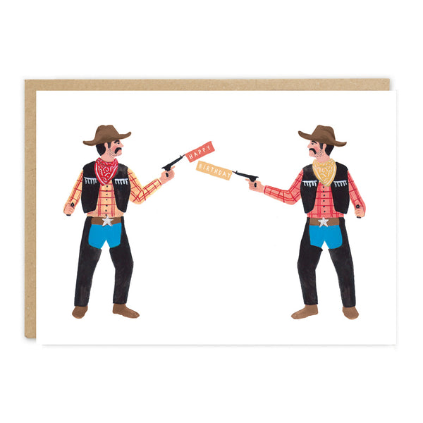 Jade Fisher Buck Birthday Card - Cowboys