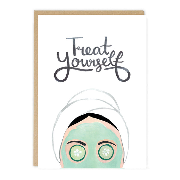 Jade Fisher Meagle Birthday Card - Treat Yourself