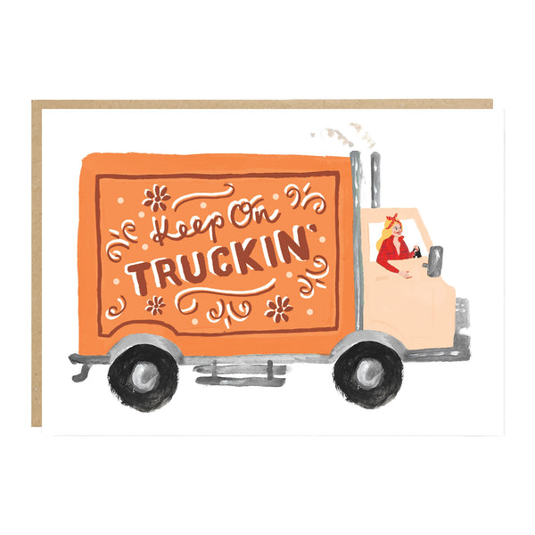 Jade Fisher Rebecca Card - Keep On Truckin'