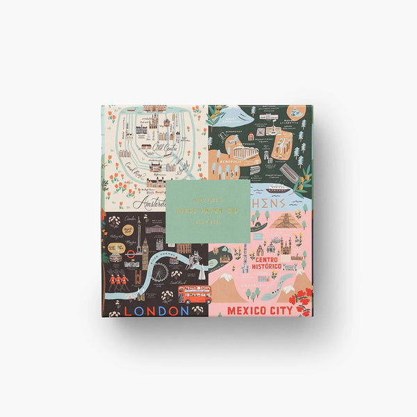 Rifle Paper Co. Jigsaw Puzzle Maps