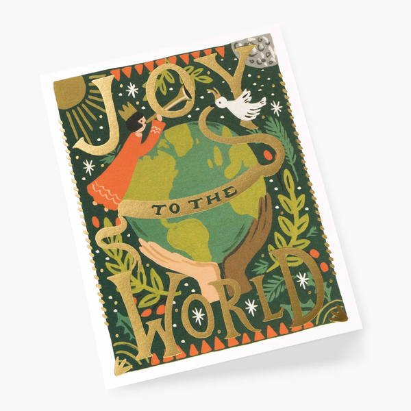 Rifle Paper Co. Joy To The World Christmas Card SET