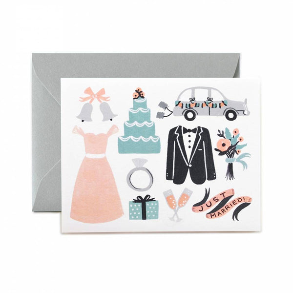 Rifle Paper Co. Just Married Wedding Card