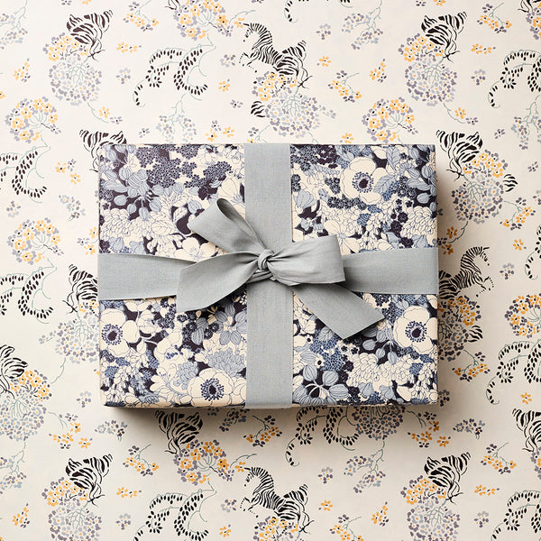 Katie Leamon Curious Zebra & Bloom Gift Wrap